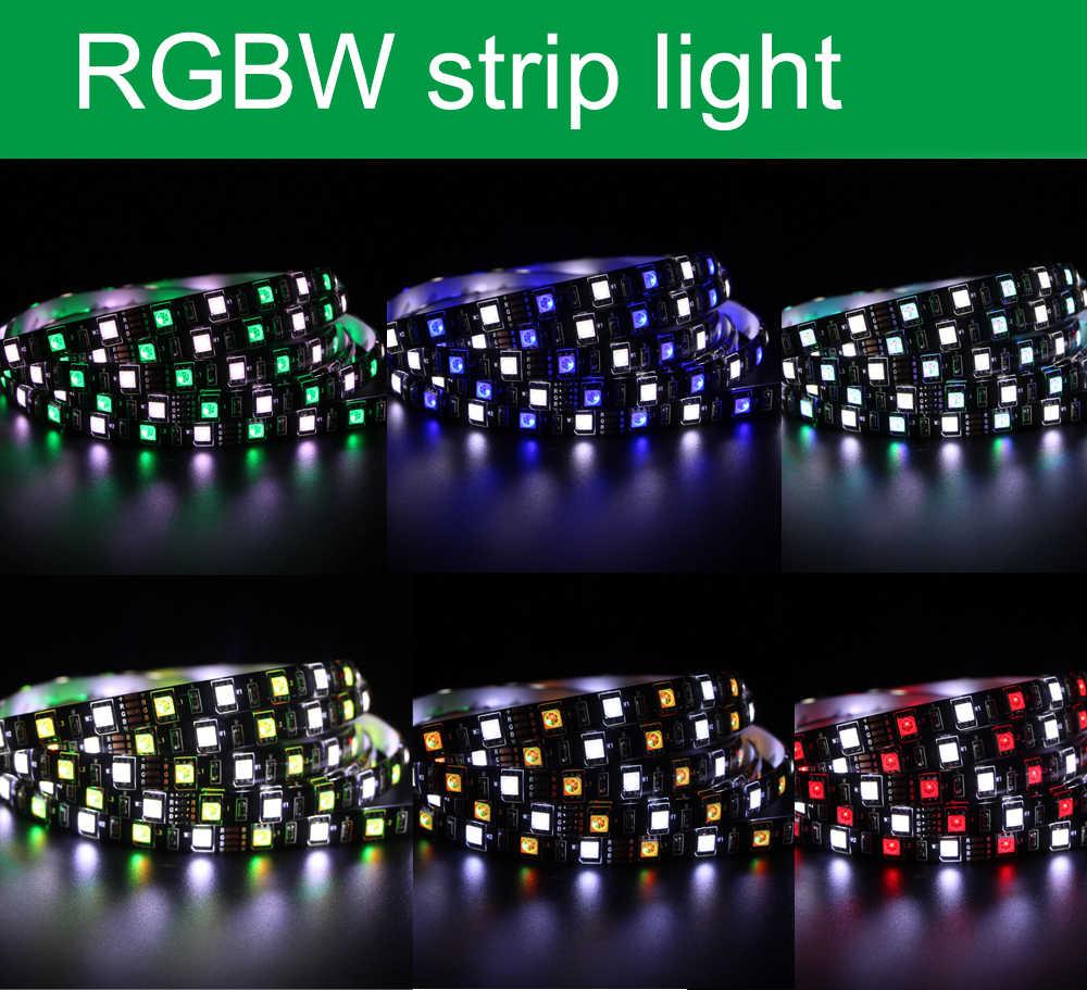 1 m 5 m 4in1 RGBW RGBWW taśmy LED światła 5050 DC 12 V 24 V elastyczne światło LED RGB + biały/RGB + ciepły biały diody taśmy liny 60 diod led/m