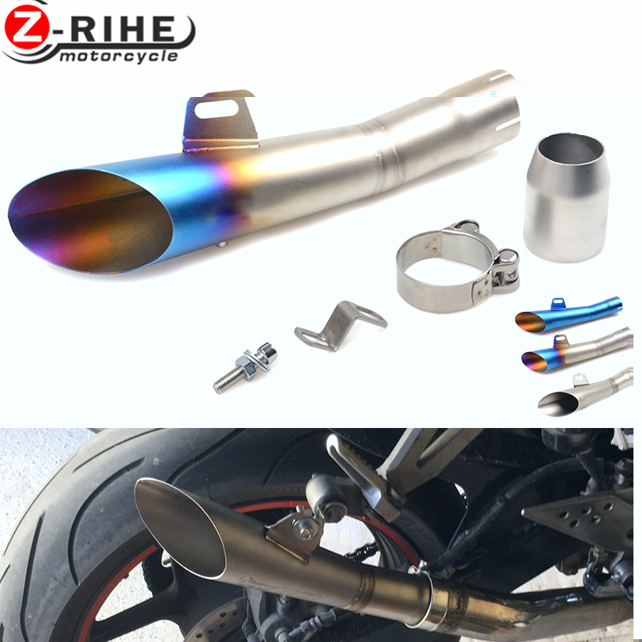 for Universal 36-51mm Motorcycle Accessories cnc Exhaust Stainless Steel Motorbike Exhaust Pipe For Triumph TIGER 800 XC/XCX/XR/ for universal 36 51mm motorcycle accessories cnc exhaust stainless steel motorbike exhaust pipe for yamaha fz6 fazer fz6r fz8 mt