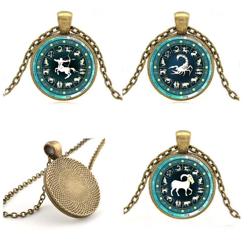 Aliexpress Com Buy 2 In 1 Constellations Pendant Amulet: Signs Of Zodiac Necklace Pendant Astrology Star Sign