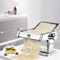 Multifunctional Household Stainless Steel 2/3 Blades kitchen Pasta Making Machine Manual Noodle Maker Pasta Cutter Spaghetti