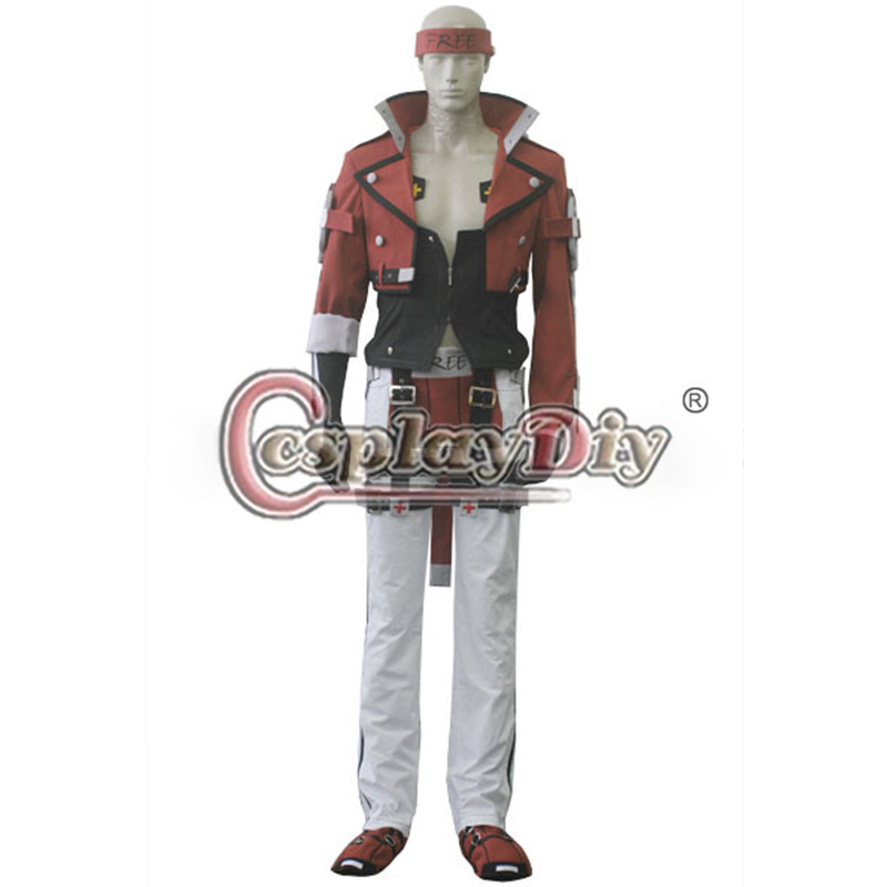 Cosplaydiy Guilty Gear Xrd Sol Badguy Cosplay Costume For Adult Halloween Custom Made D0825