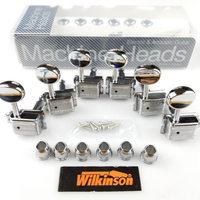 Wilkinson VINTAGE CHROME TUNERS Electric Guitar Machine Heads Tuners For ST & TL Guitar OR Similar WJ 55 Silver Tuning Pegs