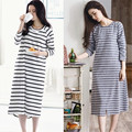 2016 Spring And Autumn Ladies Cotton Nightgown Woman Long Sleeved Autumn And Summer Cotton Clothing Home Furnishing