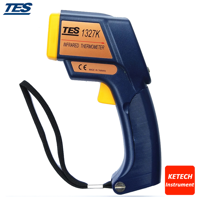 TES1327K Digital Infrared K Type Thermometer (2 in 1 Infrared:-35-500C Contact:-150-1350C) tes 1326s industrial infrared thermometer 35 500c