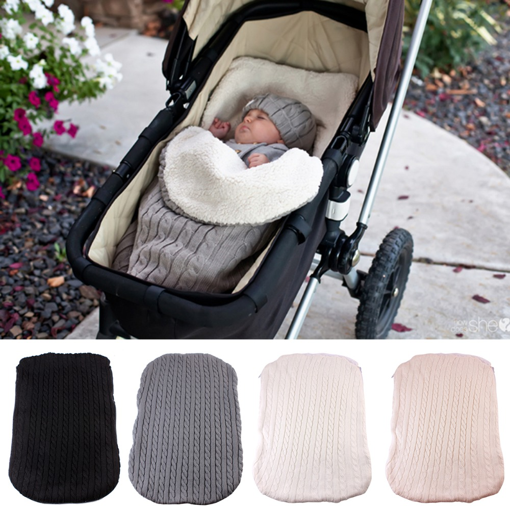 8e66969470 Dropwow 2018 Thick Baby Swaddle Wrap Knit Envelope Newborn Sleeping ...