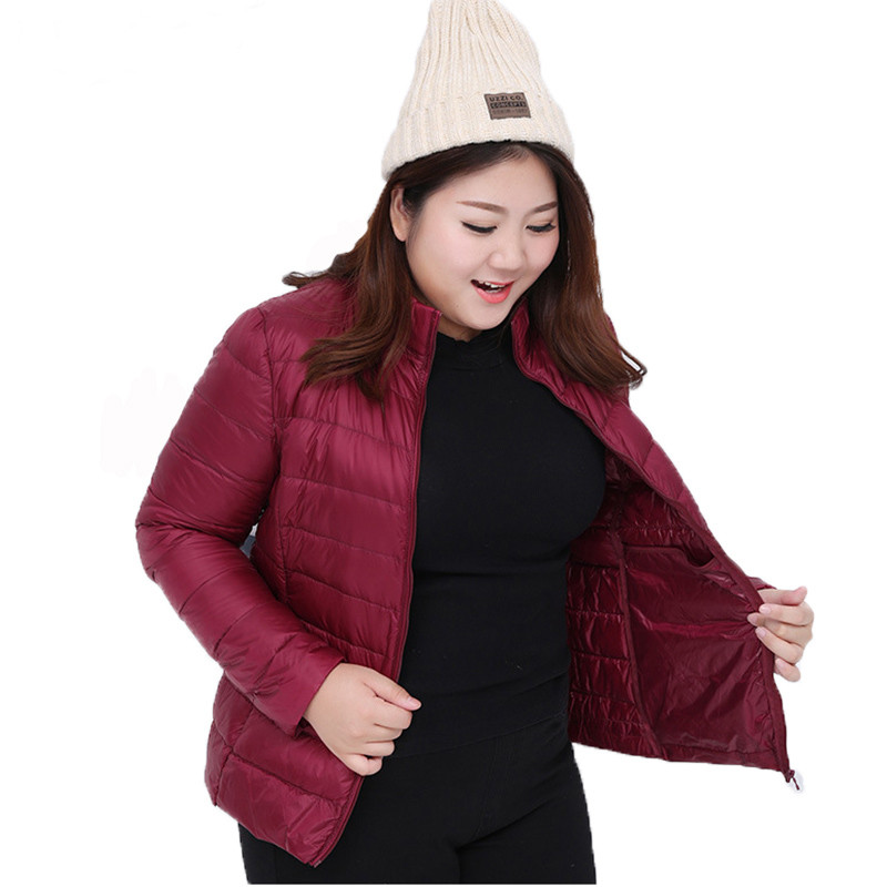 S-7XL 2018 Women Ultra Light Duck Down Jacket Autumn Winter Down Coat Parka Female Short Coats Outwear Clothing Plus Size AB885