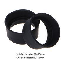 2 шт Мягкий резиновый окуляр глаз щит 29-30 мм защитные очки чашки окуляра крышки для бинокулярного микроскопа#715