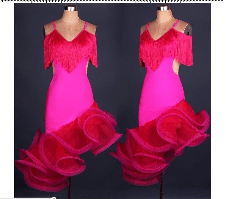 2015 recién llegado De trajes De baile Salsa señora Vestidos ...