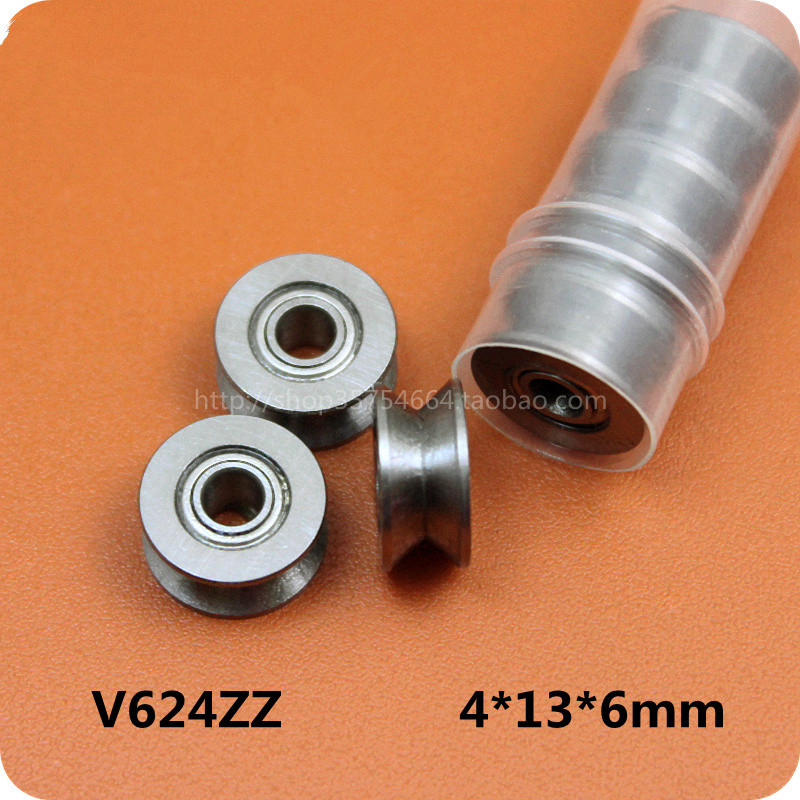 10pcs 4MM V-Groved Wire Guide Pulley Wheel High Carbon Steel Cable Ball Bearing chrome oxide plated steel wire guide pulley for wire industry