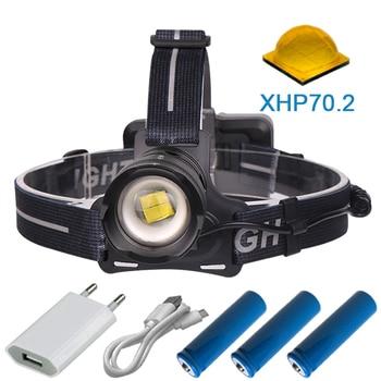 90000 lumens cao mạnh LED XLamp XHP70.2 đèn pha đầu đèn pin sạc XHP70 đầu đèn XHP50 đèn pin