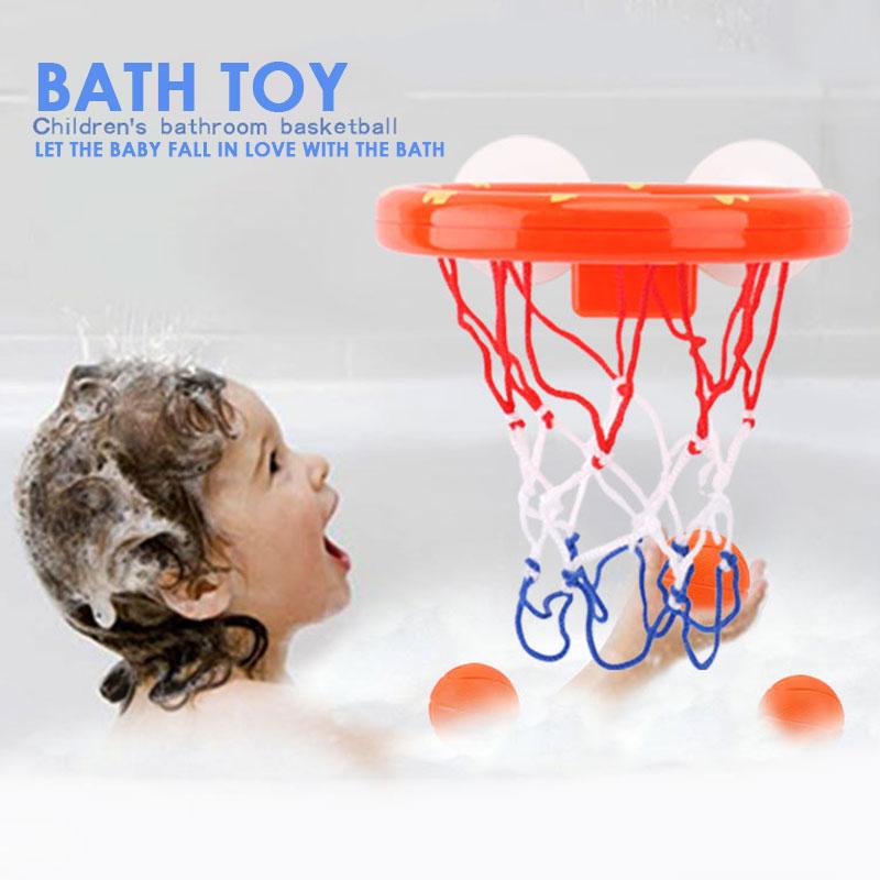 Оранжевый пластиковый баскетбольный обруч для малышей, баскетбольный костюм, игрушка для ванны, интересные развлечения, игра в воду, красивая игрушка для ванны, забавная игрушка