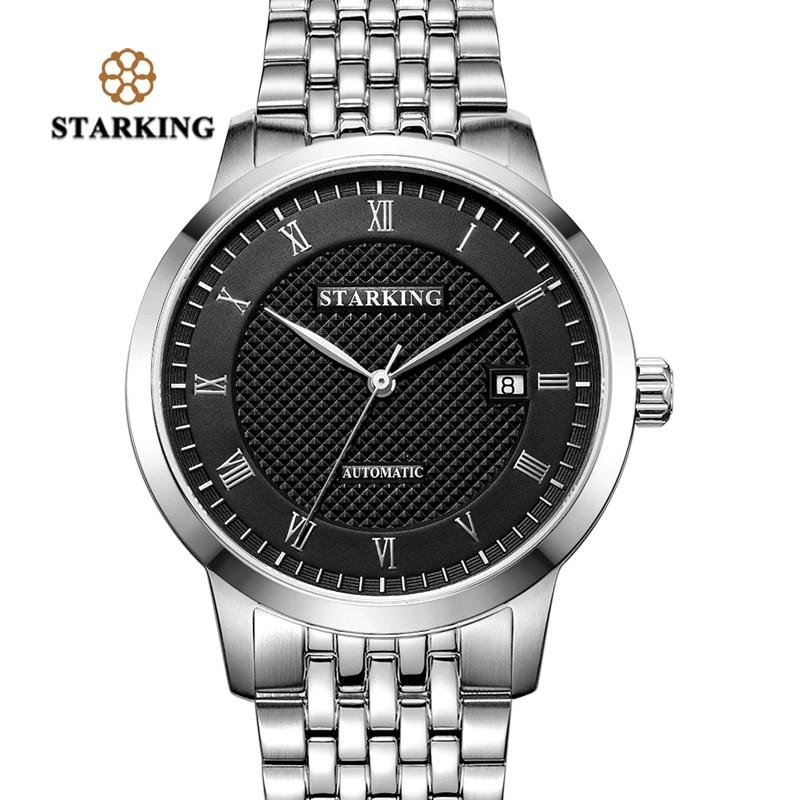 STARKING Men Skeleton Mechanical Wristwatches Tourbillon Analog Automatic Geneva Genuine Leather Strap Famous Brand Watch AM0187 все цены