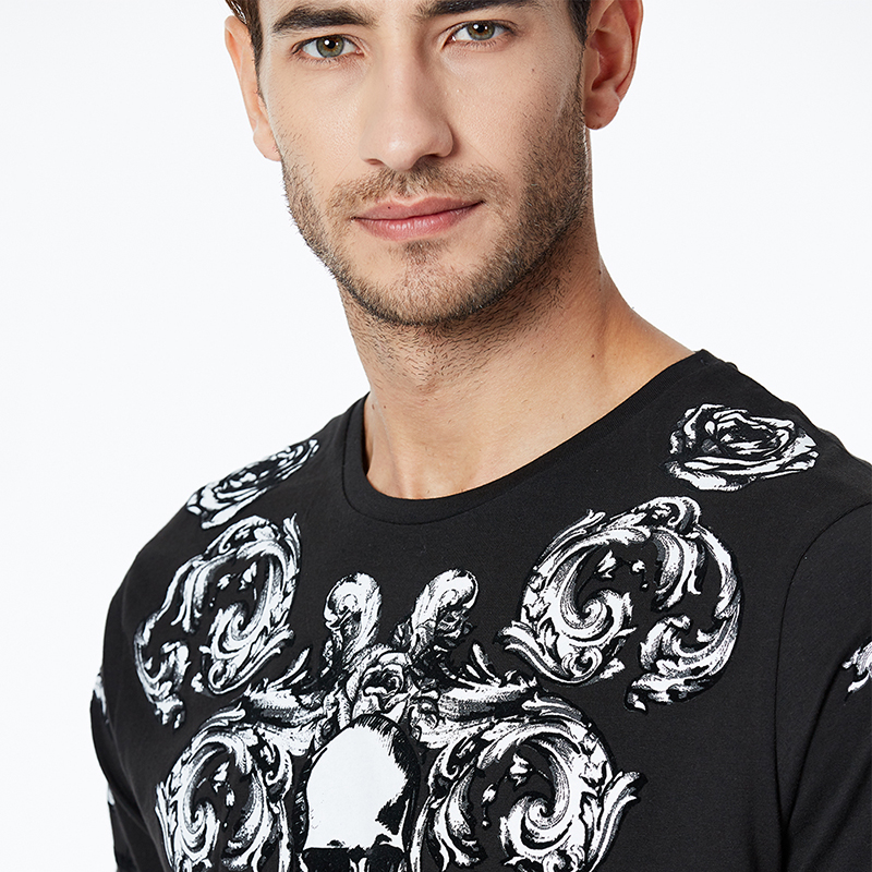 GLO STORY 2019 Men 39 s Short Sleeve T Shirts Skull Style Basic Streetwear Male Fashion Summer Tops MPO 7306 in T Shirts from Men 39 s Clothing