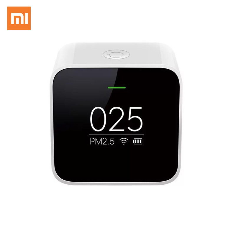 Original Xiaomi Mijia PM2.5 Detector Xiaomi Air Quality Tester OLED Screen Smart Sensor Smart Control APP Adapt Mi Air Purifier xiaomi mi smart air purifier 2nd gen hepa home air cleaner app control