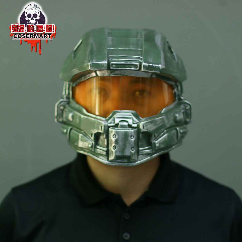 Halo 4 Helmet Prop Replica Cosplay Costume Full Head Mask PVC Equipment Master Chief Game Accessories (10)