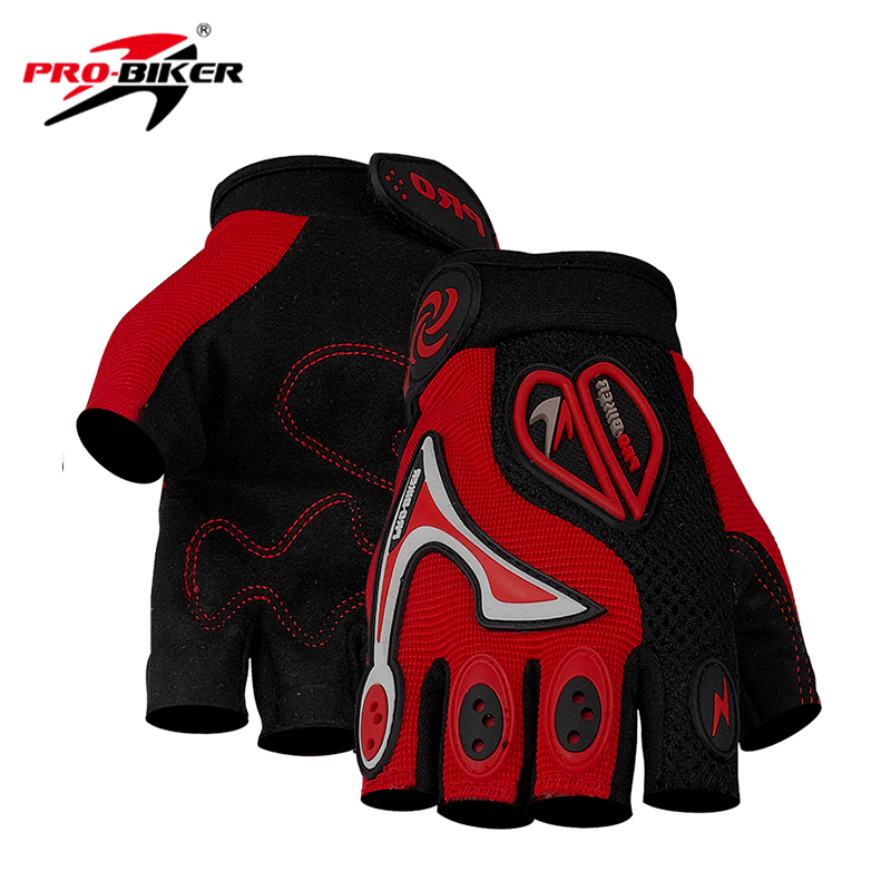 PRO-BIKER Motorcycle Gloves Motocross Off Road Racing Cycling Bike Bicycle Gloves Moto Dirt Riding Half Finger Gloves CE06B pro biker motorcycle riding gloves breathable motocross off road racing moto full finger gloves with stainlesssteel injection