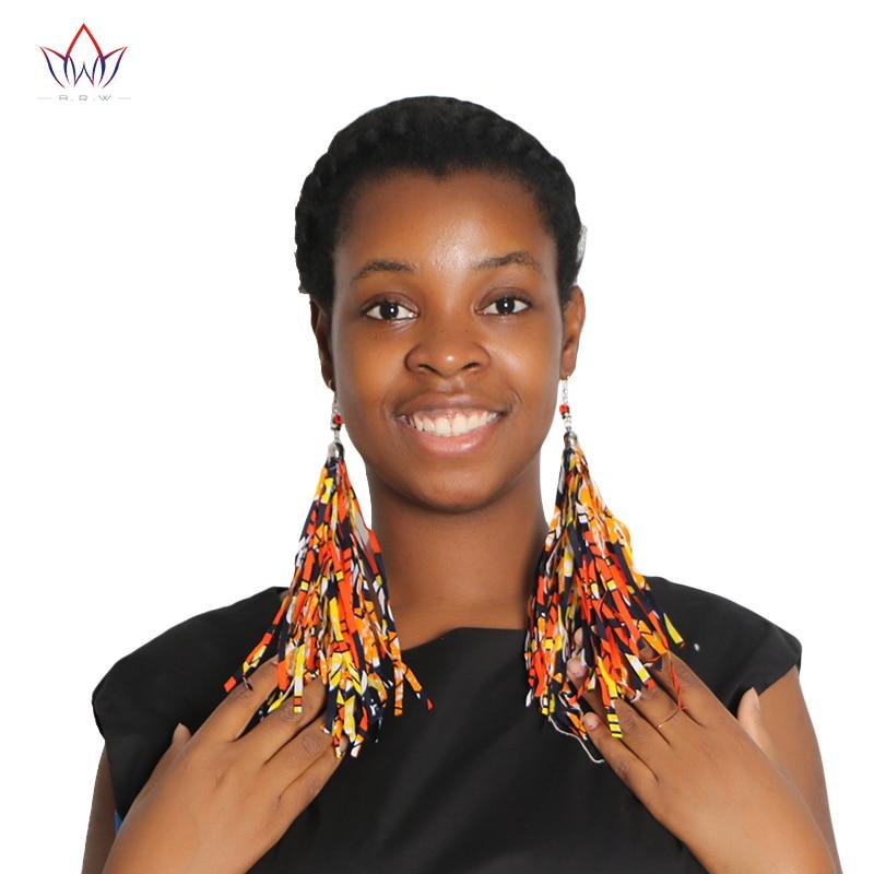 2017 Hot Sale Mode Afrika Rumbai Anting-Anting Gaya Boho Handmade - Pakaian nasional - Foto 2