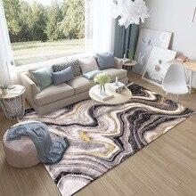 Современный роскошный Американский абстрактный геометрический черный золотистый изгиб линии, прикроватный коврик для спальни, гостиной, ванной комнаты, ковер на заказ