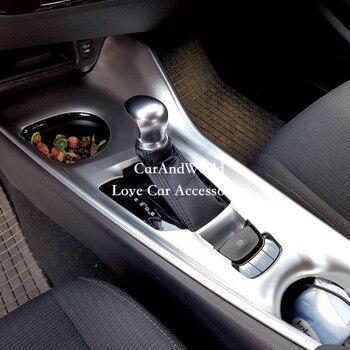 Для Toyota C-HR CHR 2017 2018 хромовое углеродное волокно LHD панель коробки передач переключения передач электронный ручной тормоз крышка отделка авт... >> CarAndWorld-Good Store