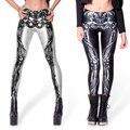 Punk Rock Fashion Women Skeleton Leggings Skull Printed Pants Digital Print Galaxy Stretch Spandex Footless Legging Leggin Leg