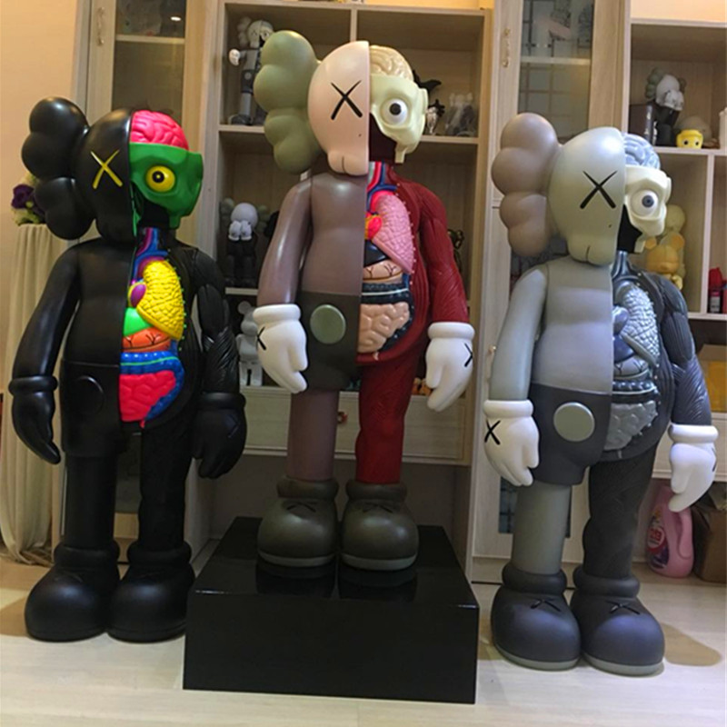 1.3M OriginalFake KAWS Dissected Companion Brian Street Art BFF 4FT Action Figure Collectible Model Medicom Toy L19411.3M OriginalFake KAWS Dissected Companion Brian Street Art BFF 4FT Action Figure Collectible Model Medicom Toy L1941