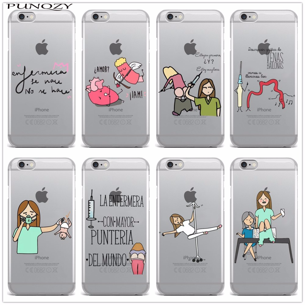 Spain Cute Cartoon Medicine Nurse Doctor Dentist Tpu Soft Silicone Case For Iphone X 8 8plus 5 5s Se 6 6s 6plus 6splus 7 7plus Cellphones & Telecommunications