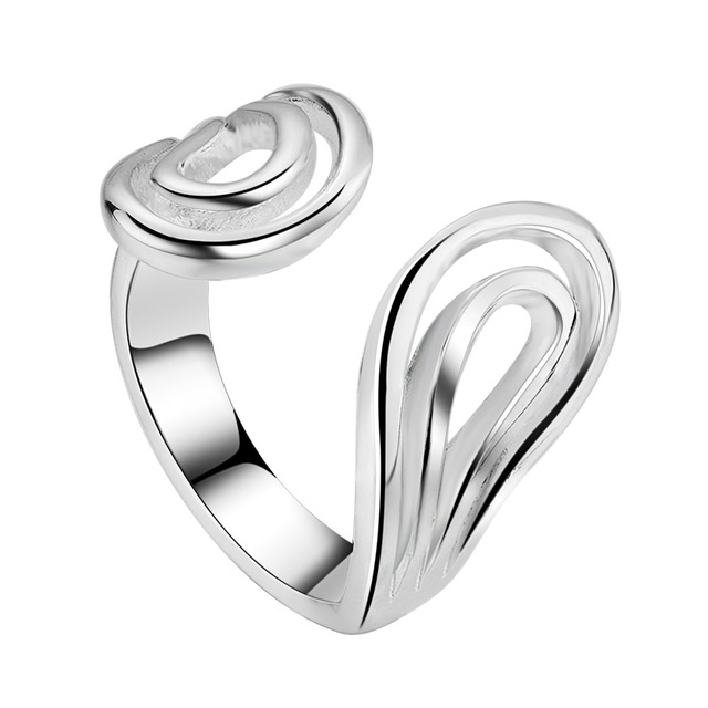 Wholesale 925 jewelry silver plated ring silver adjustable size ,fashion jewelry Ring for Women,