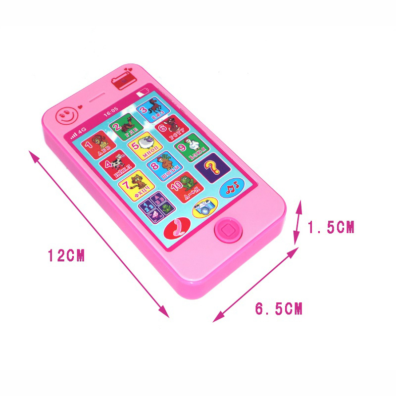 2017 NEW Baby Early Learning Training Machines toy phone russian language animal sounds kids phone education music Phone