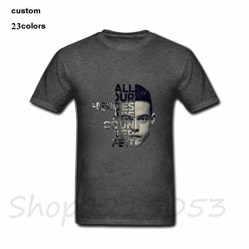 2019 Verão top Mr Robot citação tecnologia jogo Homens tshirts dragão bola de grandes dimensões t-shirt masculina ahegao pokemon engraçado camisetas t camisas