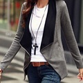 Womens Lapel  Coat Casual Long Sleeve Jacket Outwear Cardigan Tops