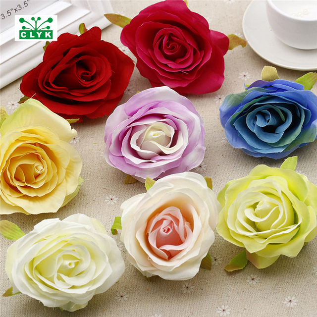 Aliexpress buy high quality artificial silk rose flower head high quality artificial silk rose flower head fake flowers wedding home party decoration diy supplies 85 mightylinksfo