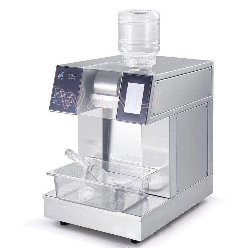 פתית שלג קרח מכונה אוטומטית מכונת קרח מסחרי חלב מגולח קרח מכונת קרח מכונה קינוח חנות קר לשתות חנות 1200W