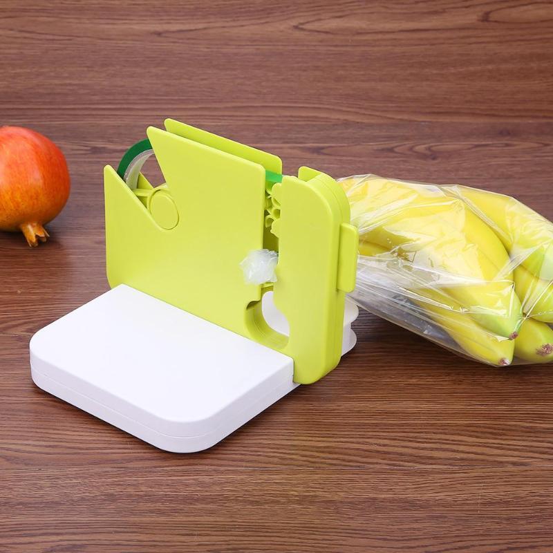 Portable Bag Clip Manual Food Sealer Fast Sealing Machine Impulse Sealer Seal Packing Capper for Vegetable Fruit Bag Household kw f01s commercial use digital manual fruit juice food plastic cup sealing packing machine for beverage