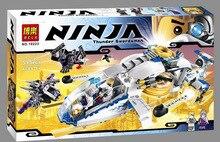 10223 BELA Phantom Ninja Trueno Espadachin DIY Juguetes Educativos Bloques de Construccion de Helicopteros de Serie 516 unids