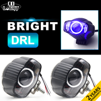 CO LIGHT LED Spot Driving Auxiliary Light Blue DRL 25W Fog Lamp Oval For Harley Offroad