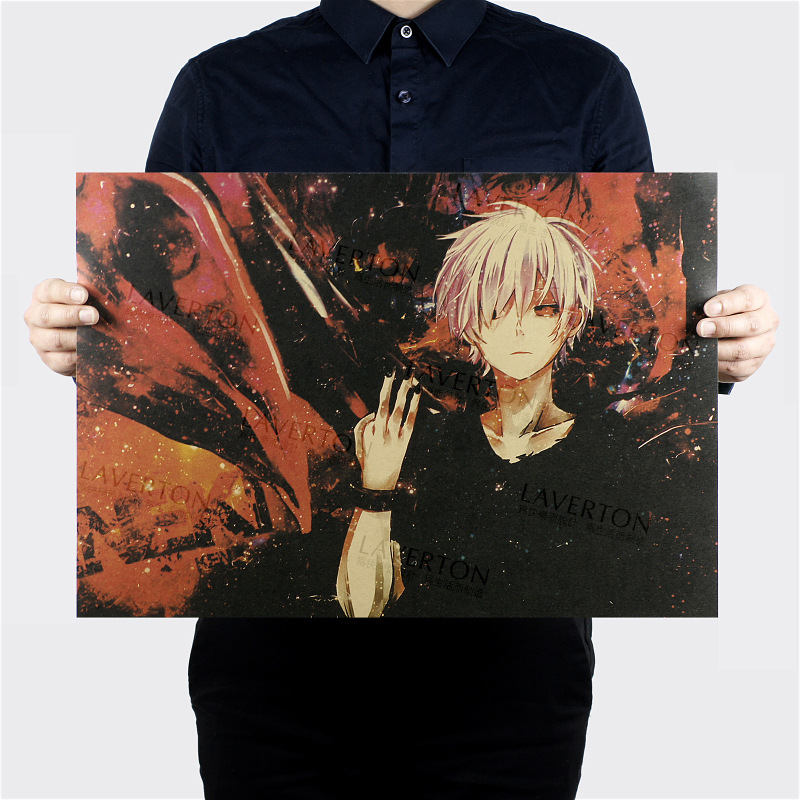 Tokyo Ghoul A Style/classic Japanese Cartoon Comic/kraft paper/Wall stickers/bar Retro Poster/decorative painting 51×35.5cm