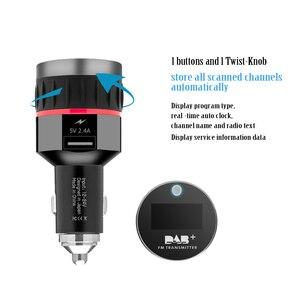 Image 3 - Автомобильный цифровой приемник DAB, интерфейс прикуривателя, Автомобильный приемник DAB, OLED дисплей, FM пусковое устройство, автомобильное зарядное устройство, цифровое радио