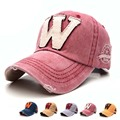 6 colores lavados denim snapback sombreros de verano otoño letra w hombres mujeres gorra de béisbol golf protector solar gorra de beisbol gorras de hockey