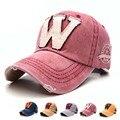 6 cores lavadas denim snapback chapéus outono verão letra w homens mulheres boné de beisebol de golfe protetor solar beisbol casquette tampas de hóquei