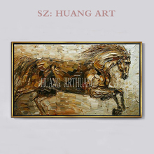Free Shipping High Quality Hand-painted Abstract Horse Oil Painting On Canvas Hand made Beautiful For Living Room