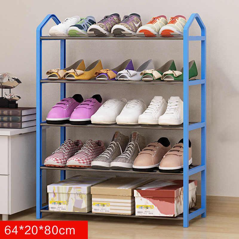 Многослойные металлические железные простые полка для обуви студенческого общежития DIY стеллаж для хранения обуви маленькие туфли шкаф, домашняя мебель полки