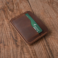 100% Cow leather men's leather slim card case casual bank card holder women's credit card case