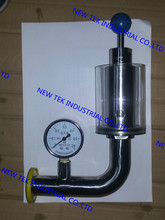 11/4″x1.5″ triclamp sanitary air release valve w/ pressure gauge, fermenter safety valve
