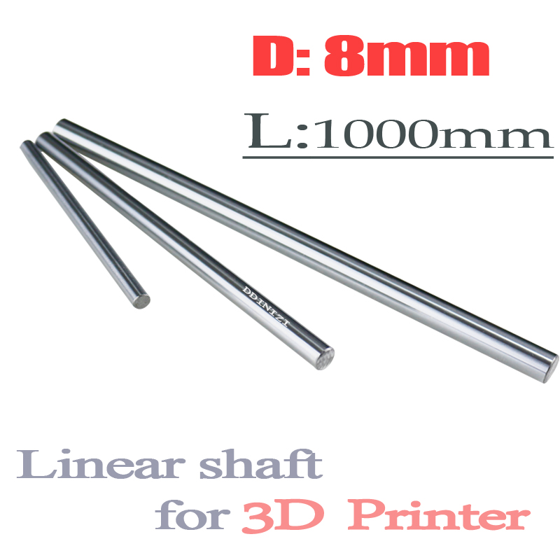 4pcs/lot dia 8mm linear shaft 1000mm long for LM8UU 8mm linear ball bearing linear smooth rod 8mm linear rail 1000mm часы other aono 8mm