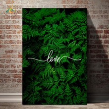 Love Leaves Plant Wall Art Canvas Painting Nordic Posters And Prints Pop Picture For Living Room Decoration Home