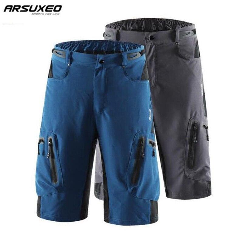 ARSUXEO Männer Outdoor-Sport Radfahren Shorts MTB Downhill Shorts Mountainbike Fahrrad Shorts Wasserdicht Lose Fit