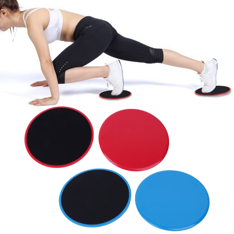 2Pcs Set Sliding Discs Double Side Exercise font b Fitness b font Round Full Body Sport