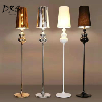 Spanish Designer White Floor Lamp Minimalist New Classical Floor Standing  Lamp Modern Bedroom Living Room Lighting Lampadaire