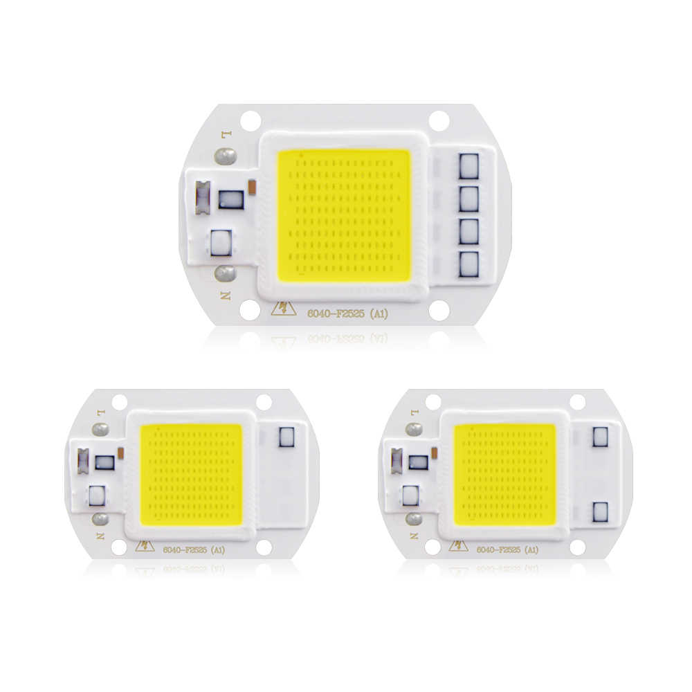 High Power COB LED Integrated Chip 10W 20W 30W 50W Smart IC Control Good Heat Dissapation LED Light Source Garden Lawn Lighting