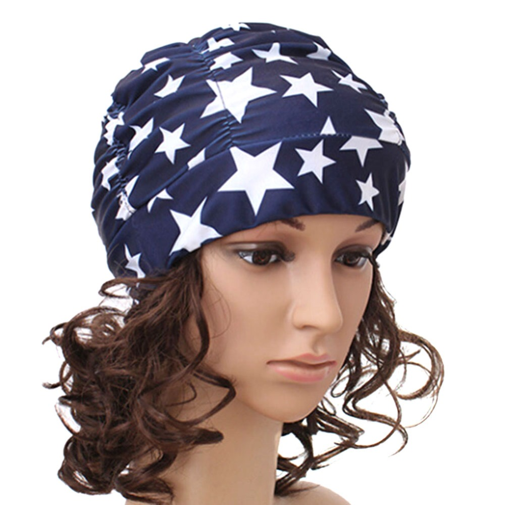 38dc6b40bd1 Hot 2017 Durable Women Men Girl Drape Stretch Long Hair Swim Cap Hat  Bathing Swimming Cap